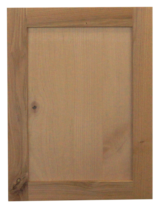 rustic alder raw door
