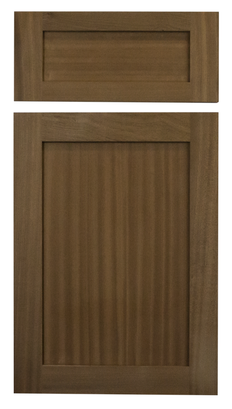 natural stain sapele shaker cabinet door