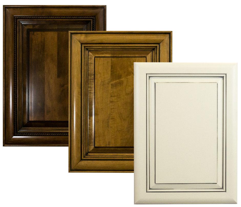 wood cabinet doors with custom glazes