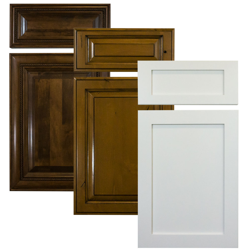 wood cabinet doors with drawer fronts