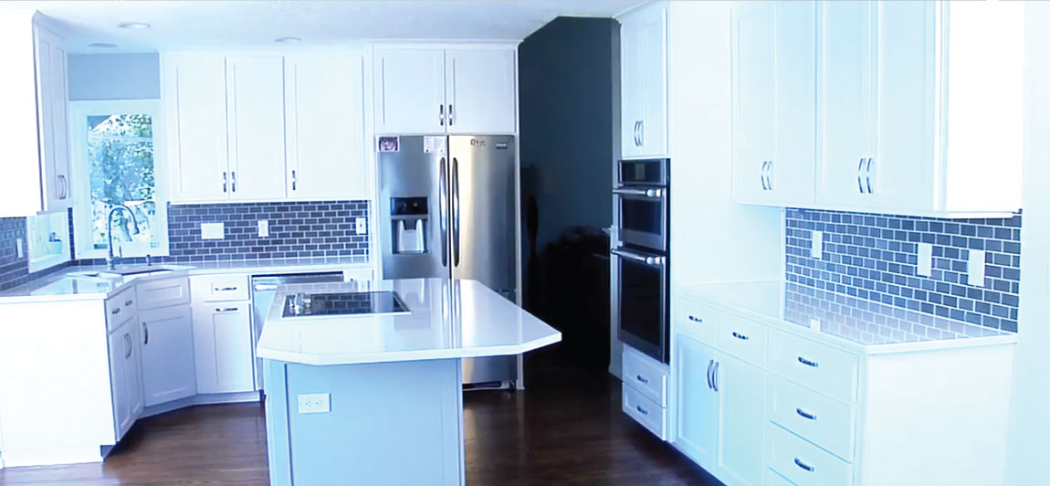 otb video tutorial kitchen, new two tone white and gray cabinets