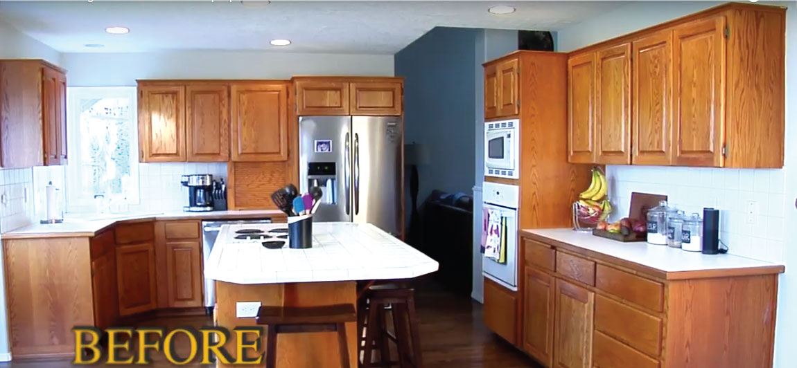 otb video tutorial kitchen, old oak cabinets