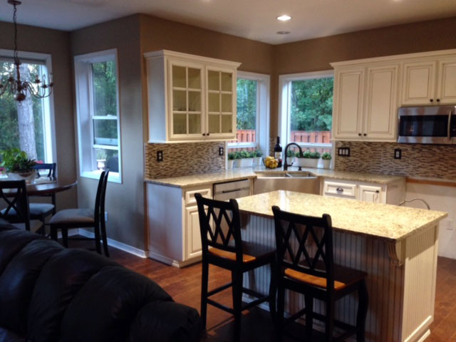 Kitchen island cabinets are capable of adding seating