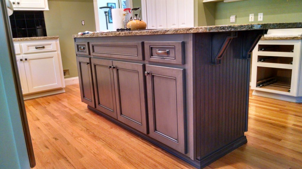 Kitchen island cabinets offer extra storage!