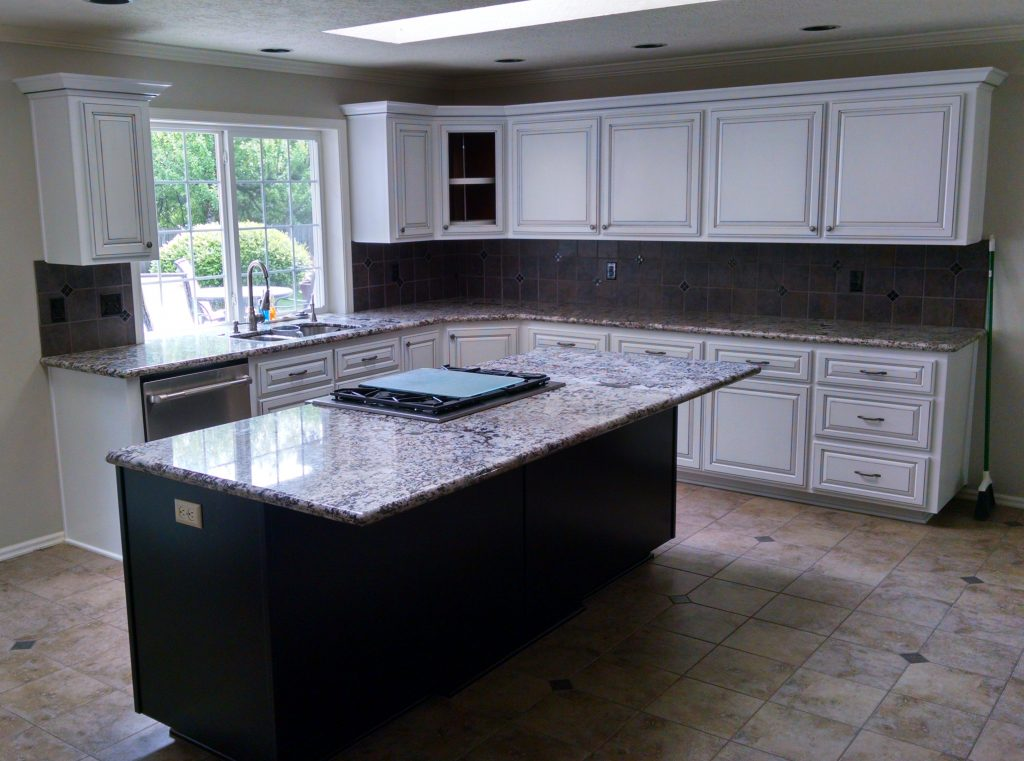 A clutter free kitchen because of an appliance garage or two