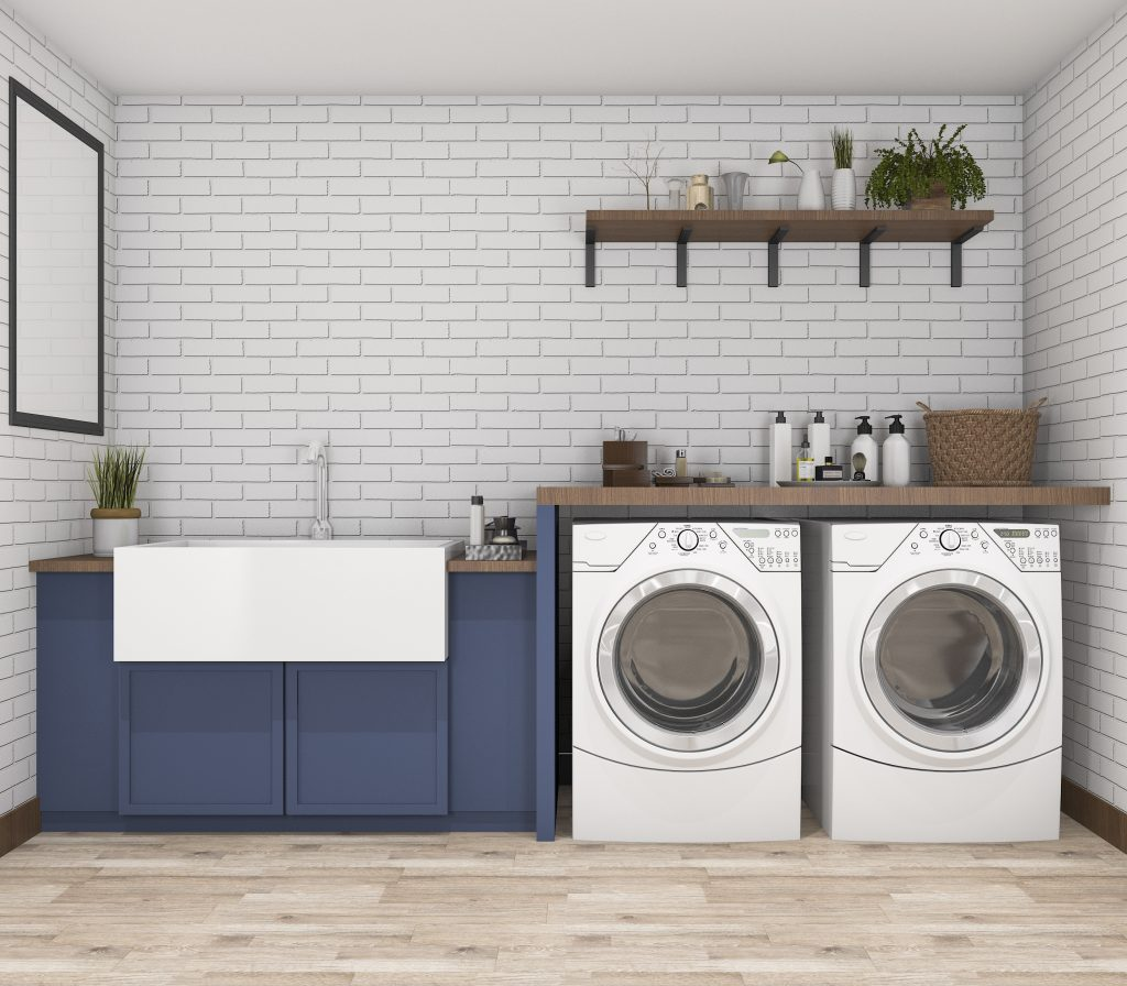 Rendering of potential laundry room plans