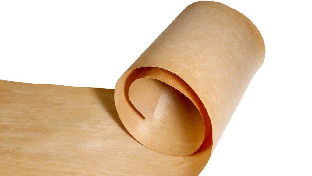 A roll of veneer