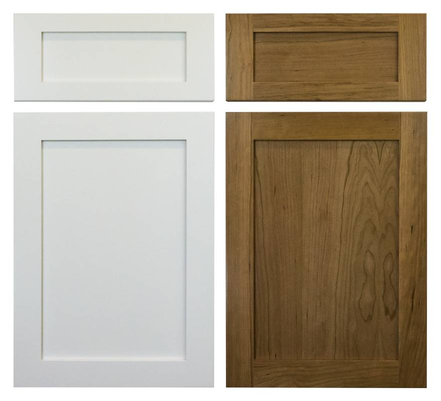 choose either tinted lacquer or stain for shaker doors