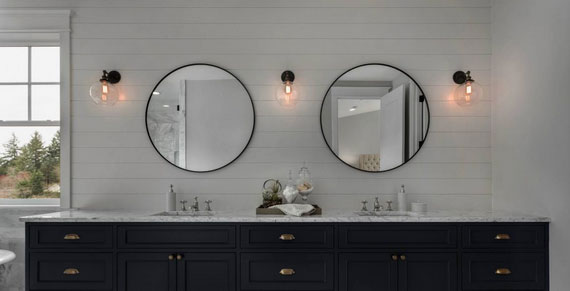shiplap diy bathroom wall accent
