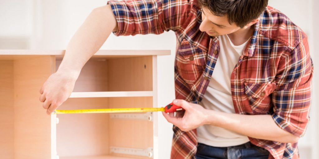 Always measure for cabinet doors from top to bottom and left to right